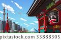 東京 雷門 街景 33888305