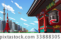 tokyo, the kaminarimon, townscape 33888305