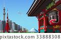 tokyo, the kaminarimon, townscape 33888308