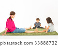 parenthood, parent and child, older sister and younger brother 33888732
