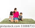 parenthood, parent and child, older sister and younger brother 33888733
