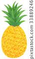 水果 插圖 菠蘿 33889246