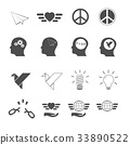 freedom icons set vector 33890522