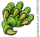 Cartoon Monster Claw 33892310