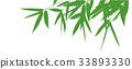대나무 잎 실루엣 33893330