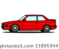 Italian coupe red car illustration 33895944