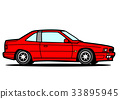 Italian sports coupe red car illustration 33895945