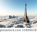 Eiffel Tower over the clouds 33896638