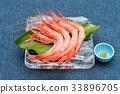 來自石川縣的生蝦(甜蝦)生魚片和生魚片。 33896705