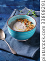 Mushroom cream soup 33898291