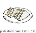 三明治 三角的 便餐 33900731