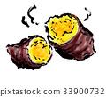烤紅薯 塊莖 芋頭 33900732