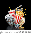 Unusual cinema concept 3D illustration 33901816