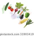 Fresh Vegetables watercolor 33903419