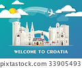 Croatia travel background Landmark Global Travel. 33905493