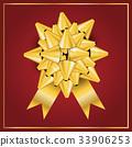 bow, gold, ribbon 33906253