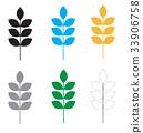 set wheat icon on white background. 33906758
