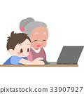 教PC的老年人 33907927