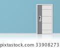 Elements of architecture, front door background. 33908273