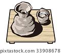 japanese sake, alchohol, ceramic 33908678