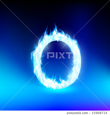 Vector Letter With Blue Fire Stock Illustration 33908714 Pixta