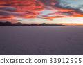 Nice sunset view of Salar Uyuni Bolivia 33912595
