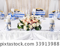 Wedding table decorated 33913988