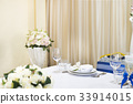 Wedding table decorated 33914015