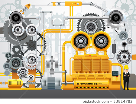 Industrial machinery factory engineering 33914782