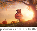 halloween, pumpkin, child 33916302