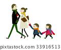 ครอบครัว,เดิน,ภาพวาดมือ ครอบครัว 33916513