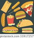 汉堡 披萨 三明治 33917257