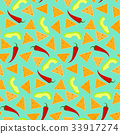 Bright pattern with nachos, avocado and chili 33917274