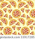 披薩 意大利蒜味臘腸 向量 33917285