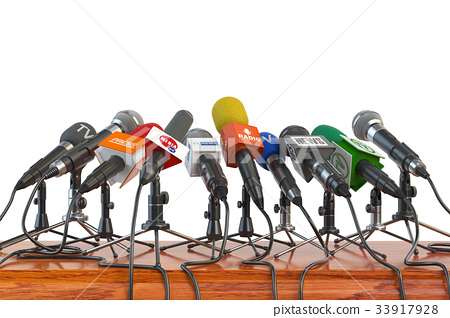 Microphones. Press conference 33917928