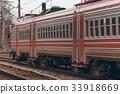 Red passenger train 33918669