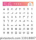 Yoga Line Icons Set 33918887