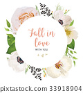 Flora wedding invite vector watercolor card Design 33918904