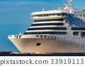 White passenger ship underway 33919113