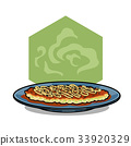 Okonomiyaki tasty japanese foo vector illustration 33920329