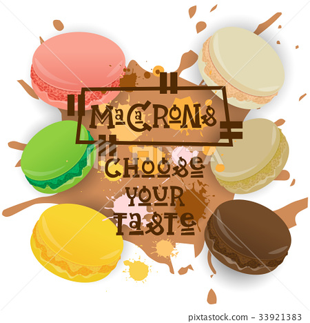 Macarons Set Colorful Desserts Collection Choose 33921383
