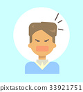 Male Screaming Emotion Profile Icon, Man Cartoon 33921751