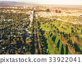 Aerial view of a golf course country club in LA 33922041