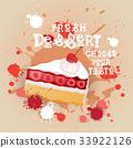 Fresh Dessert Banner Colorful Cake Sweet Beautiful 33922126