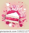 Fresh Dessert Banner Colorful Cake Sweet Beautiful 33922127