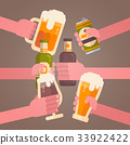 beer hand party 33922422