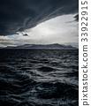 Stormy sky over an ocean 33922915