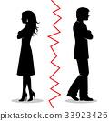 vector couple silhouette 33923426