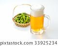 생맥주, 맥주 잔, 맥주 잔, 生中 이미지. 알코올 음료. 33925234