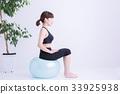 健身球 平衡球 女性 33925938